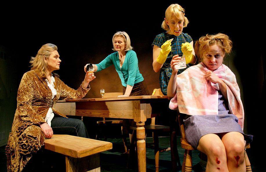 Promotional image for Perfect Pie showing four women sitting around a table