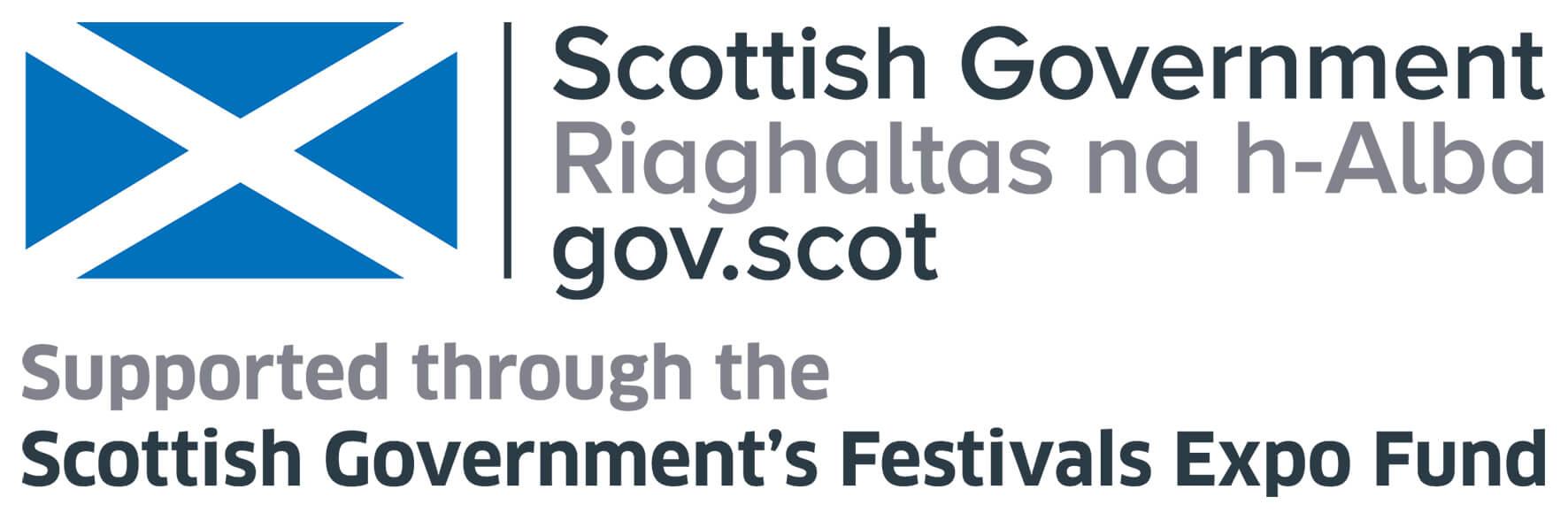 Scottish Government's Festivals Expo Fund logo