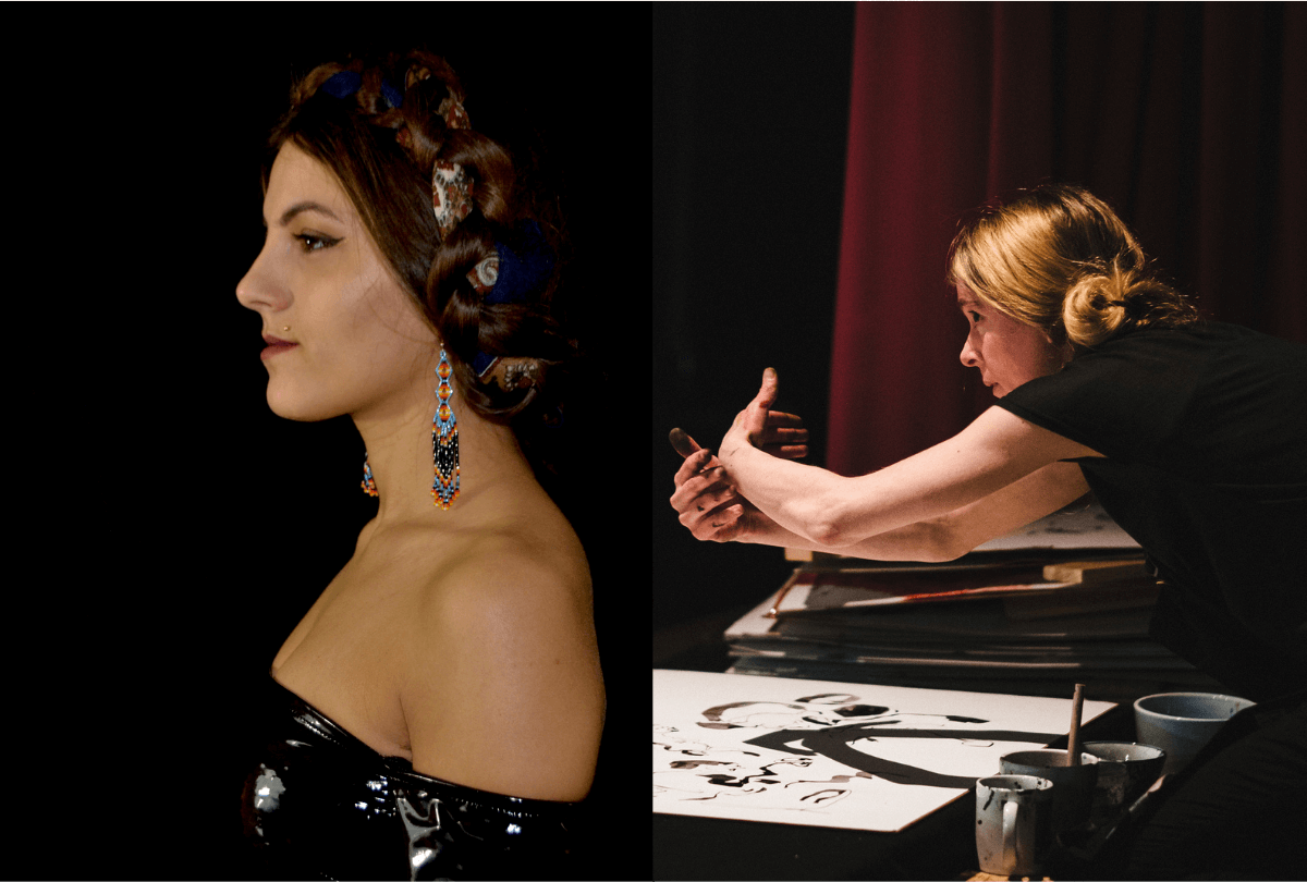 Images of Maria Sappho and Kate Steenhauer