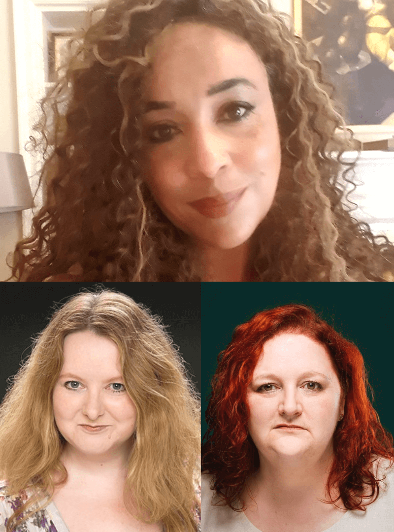 Collage showing headshots of Catherine Bisset, Angela Milton, Rebecca Fairnie