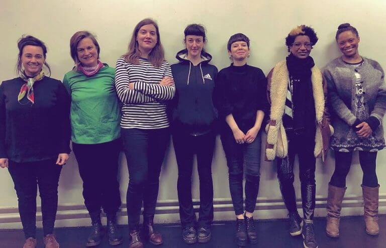 Seven M*****classes: Sound participants standing in a line